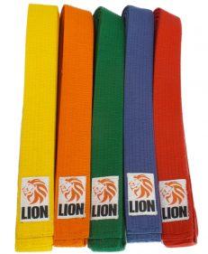 Lion judoband in alle kleuren voor judo