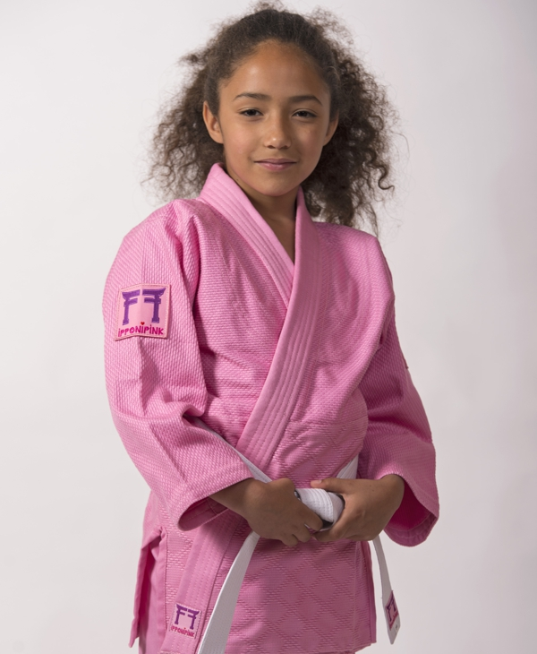 Roze judopak Ipponi pink