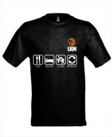 T-shirt eat sleep judo repeat zwart